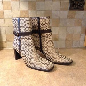 Coach above ankle booties sz6. 6